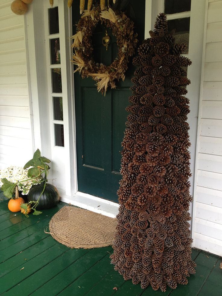 5 ft tall pine cone tree christmas pinterest for Pine cone xmas tree decorations