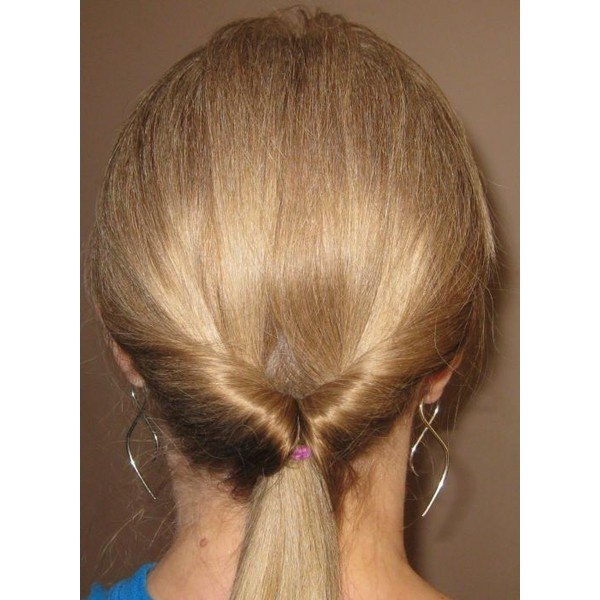 inverted ponytail found on Polyvore braids + hair - French Roll Hairstyle