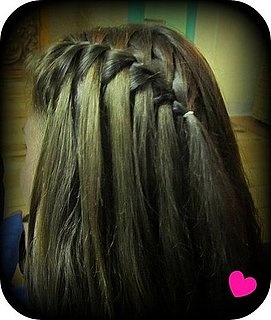 Fantasy waterfall braid