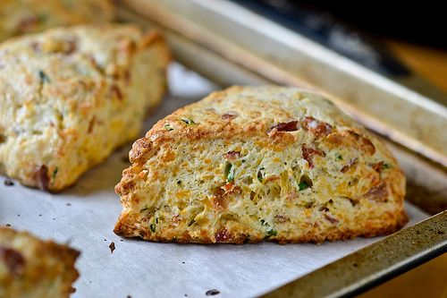 Bacon, Cheddar & Chive Scones by Full Fork Ahead, via Flickr