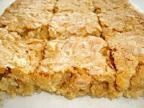 Paris Pastry: Chewy Oatmeal Blondies | Brownies and Bars | Pinterest