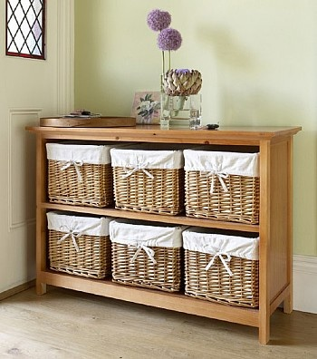 Entryway table storage for kitchen for the home pinterest - Entrance table with storage ...