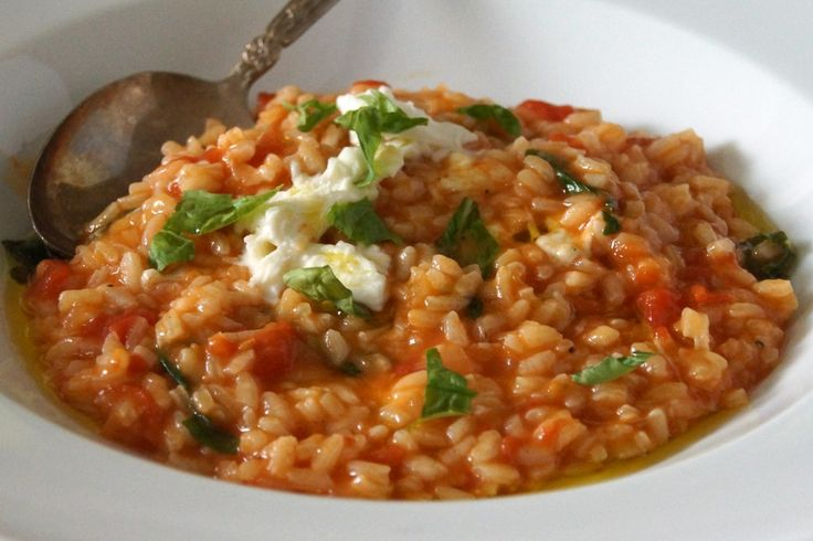 Tomato, Basil & Mozzarella Risotto | What's for dinner | Pinterest