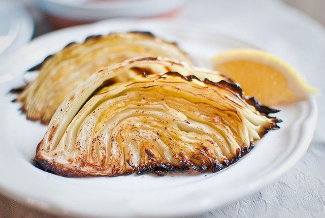 Roasted Cabbage Wedges by aubreyrose, via Flickr Cabbage is always ...