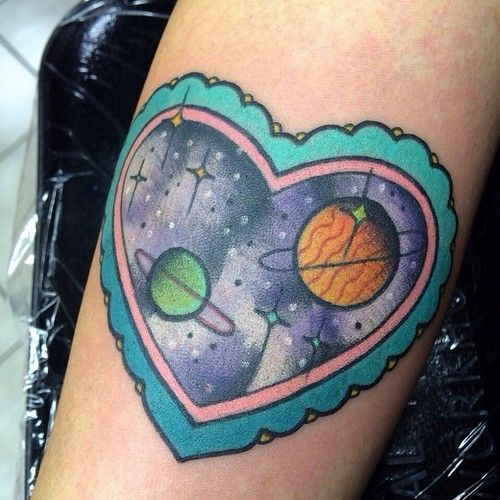 23 Super Cute Heart Tattoos for Girls images
