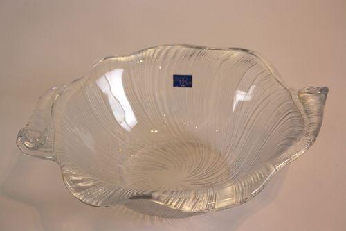 studio nova mikasa studio nova seashell crystal bowl 1980s