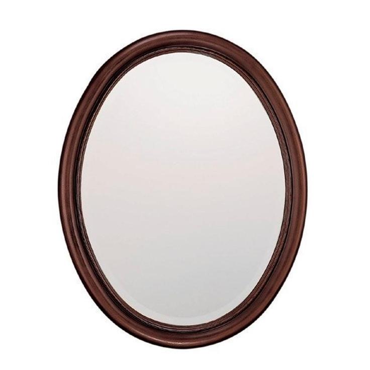 classic oval bathroom mirror in black bathrm remodel pinterest