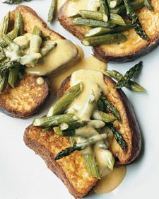 Brioche French Toast with Asparagus and Orange Beurre Blanc