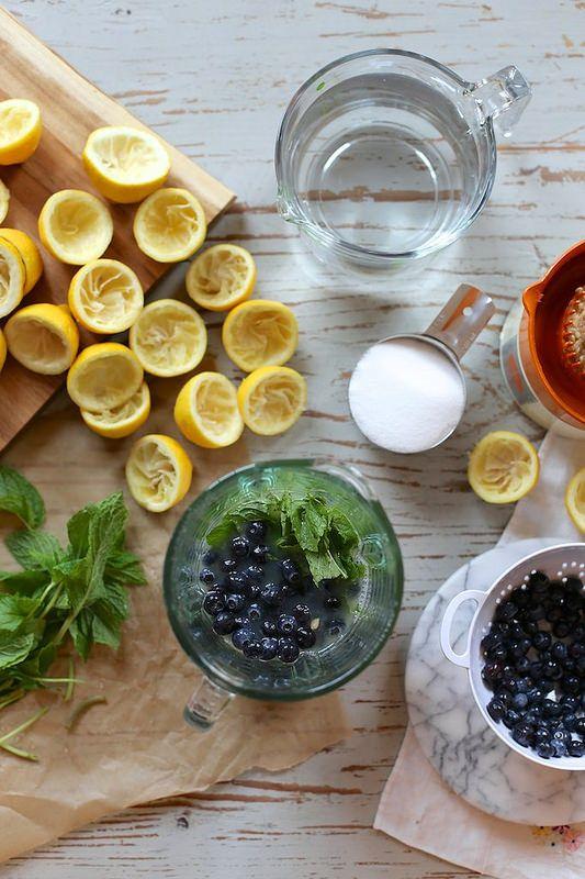 Fresh Blueberry Mint Lemonade | Cheers | Pinterest