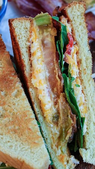 Fried Green Tomato BLTs with Pimento Cheese | Recipe
