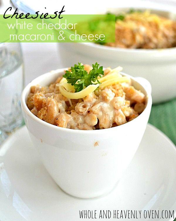 White Cheddar Macaroni & Cheese. --- Super cheesy mac 'n' cheese ...