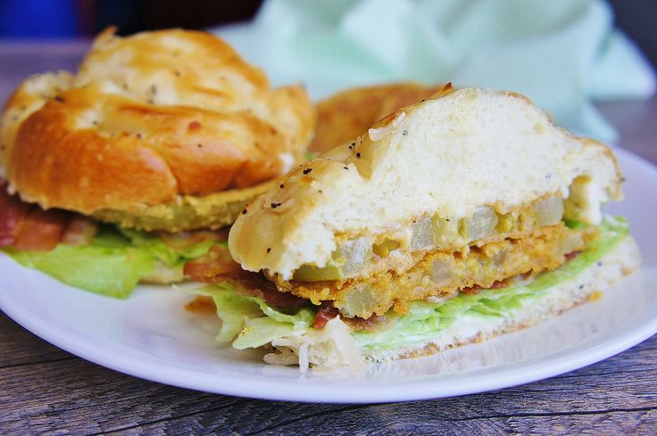 Fried Green Tomato BLT. I make these all the time in the summer. Try a ...
