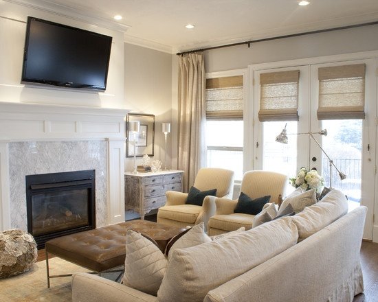 Cream And White Living Room Houzz Spaces Places