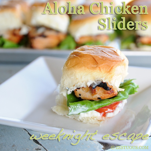 On a busy weeknight, who couldn't use a trip to Hawaii? Allow me to take you there with this recipe for Aloha Chicken Sliders.