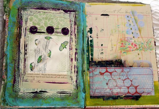 Visual art journal; several pages shown.