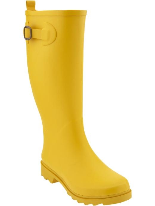 yellow rain boots spring and it was all yellow