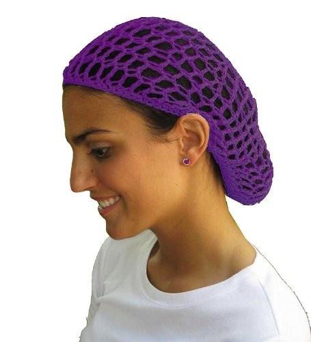 - Purple Crochet Hair Snood 6632, $2.20 - $3.99 This crocheted hair ...