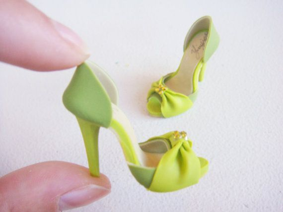 Как сделать для куклы туфли из полимерной глины
