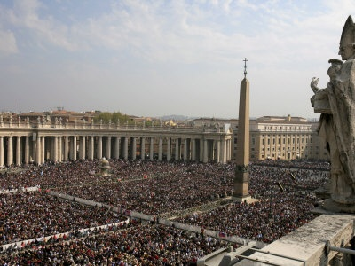 Easter mass at St. Peters Basilica, Rome Italy