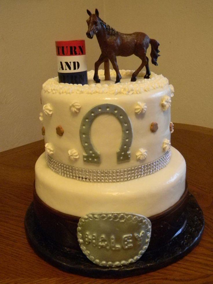 barrel racing cakes