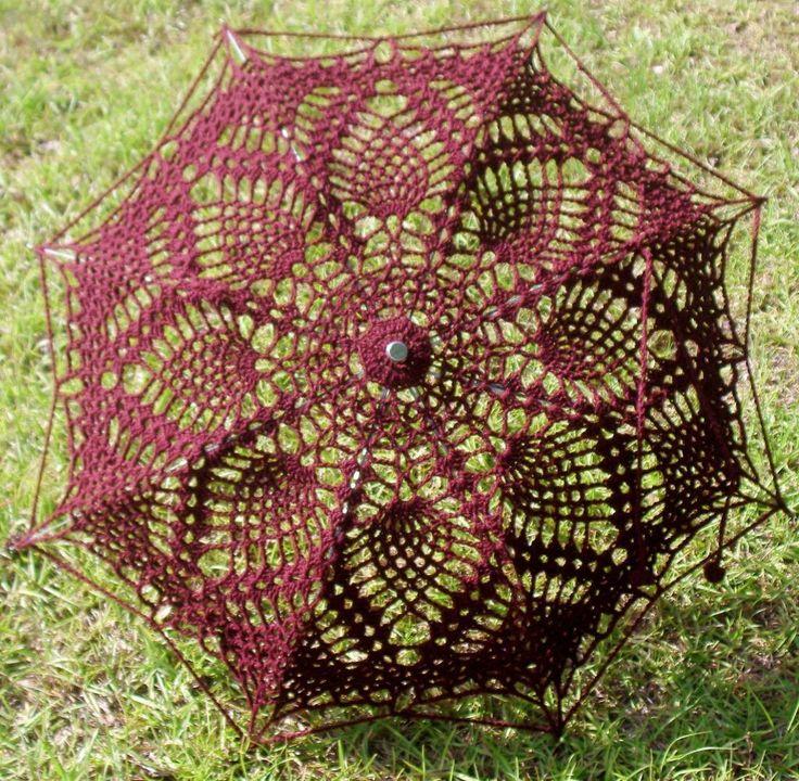 Pineapple Lace Crochet Parasol