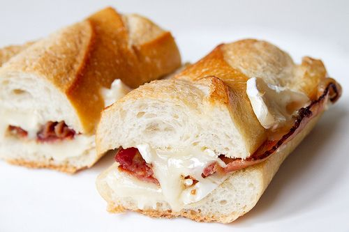 honey-glazed bacon and brie sandwich | Food And Things | Pinterest