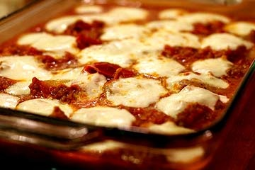 Polenta Sausage Mozzarella Casserole | Recipe