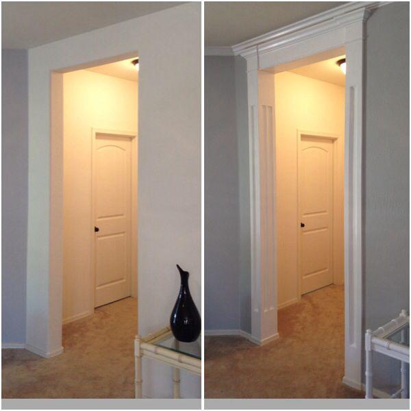 Foyer Molding Ideas : Entryway crown column molding ideas pinterest