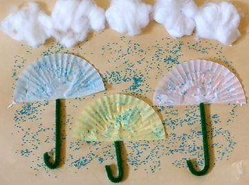 Umbrella Craft with baking cups