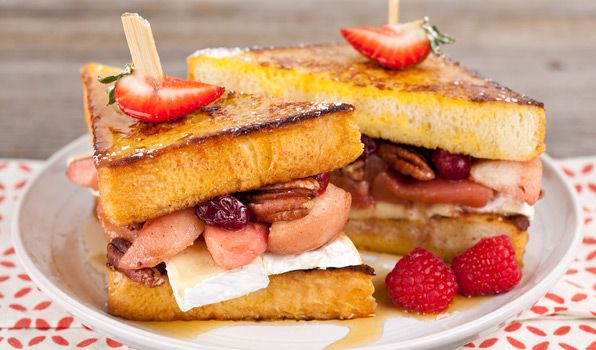 Pear & Brie French Toast Sandwich | grilled cheese | Pinterest