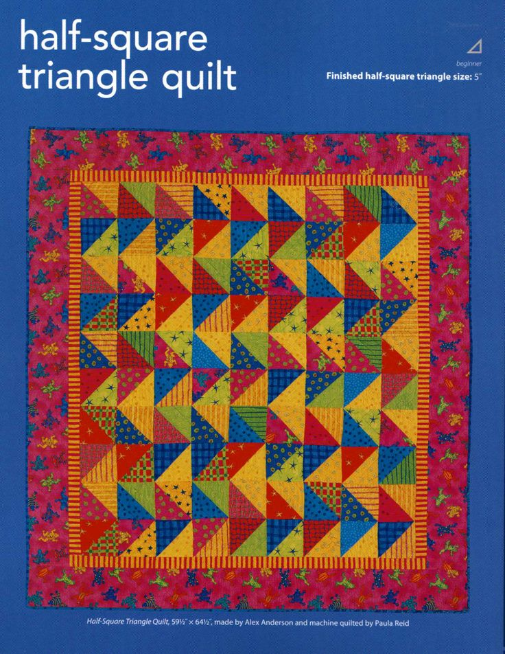 half square triangle quilt | Pieced quilts | Pinterest