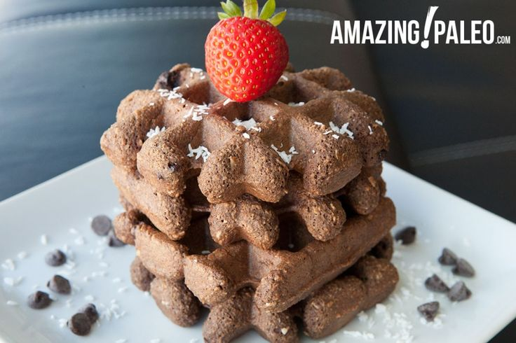 Chocolate-Chip-Waffles-5 | Amazing Paleo Recipes | Pinterest