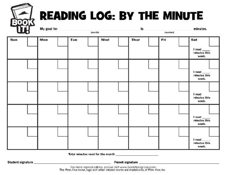 feberaury reading log | St. Augustine 1st Grade Goals