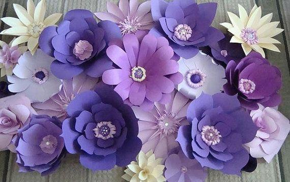 Фиолетовые цветы своими руками из бумаги