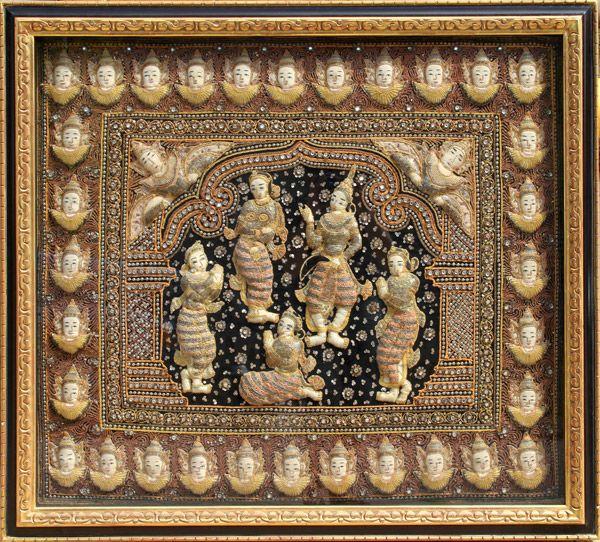 Thai Batik Tapestry | Indonesian art | Pinterest