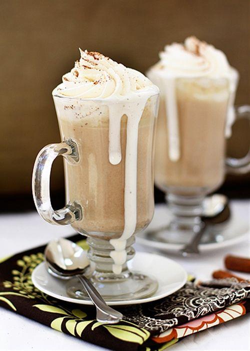 Pumpkin White Hot Chocolate | drink ideas | Pinterest