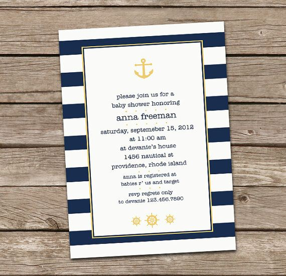 nautical baby shower invitation by deanworks on etsy