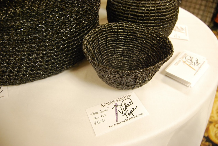 Crocheting Vhs Tape : crochet bowls made of old video tape - Who wants to give me unwanted ...