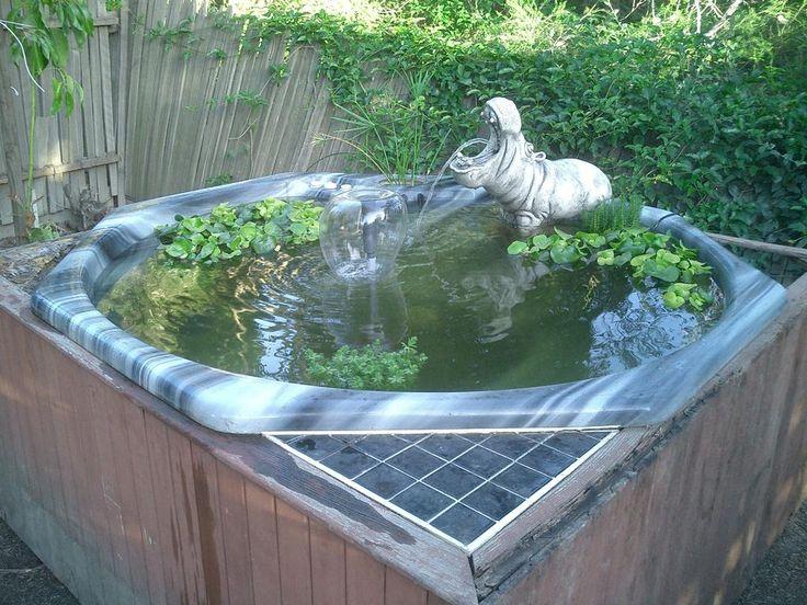 Пруд своими руками на даче из ванны