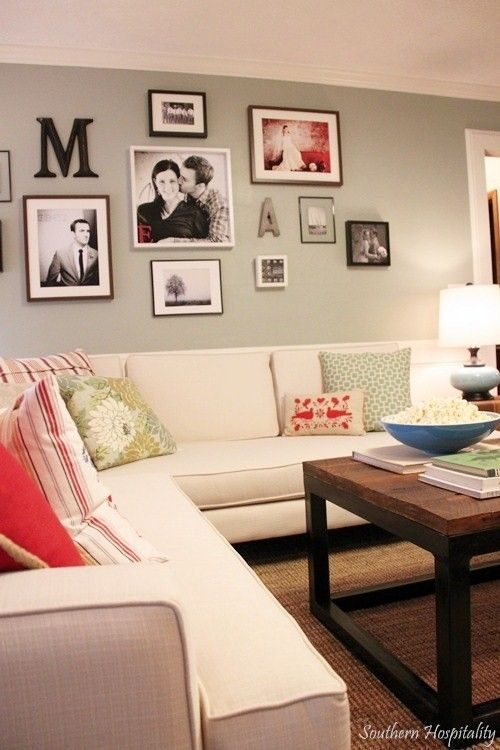 Wall Decor Ideas Behind Couch : Gallery wall behind couch love that living spaces