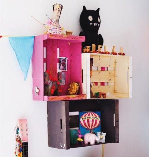 Estanteria infantil con cajas de fruta inspiraci n - Estanterias con cajas de fruta ...