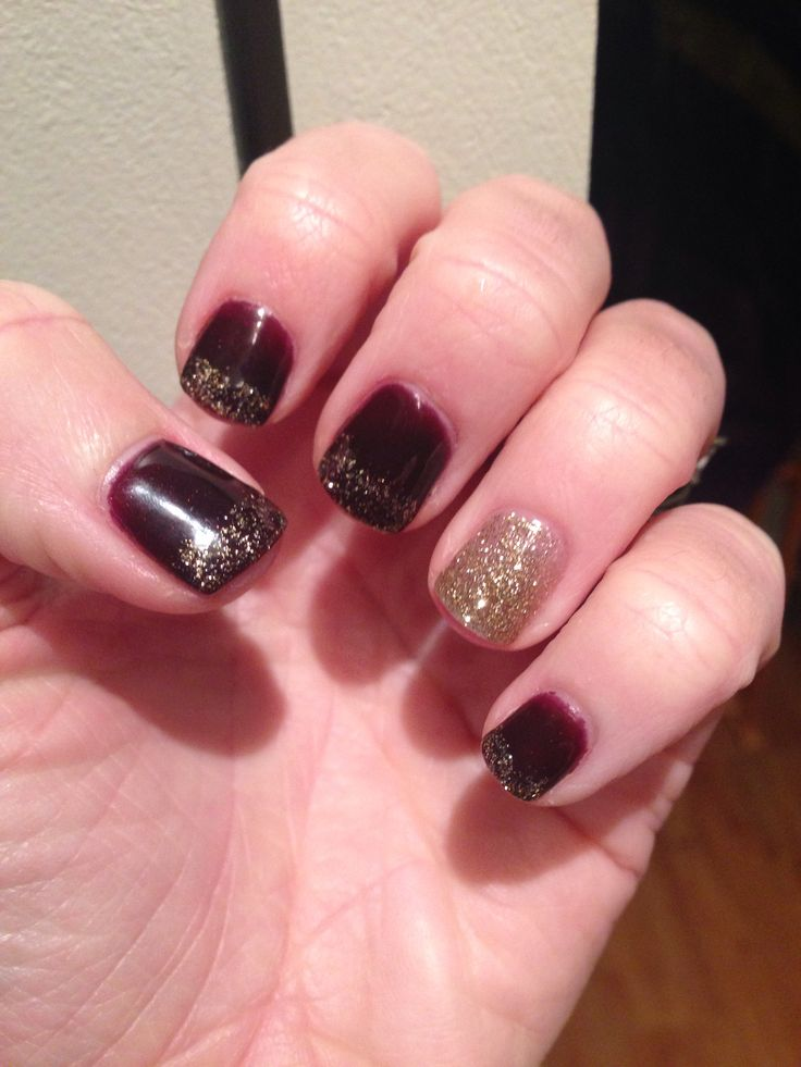 Winter gel nails. | Gel nail designs | Pinterest