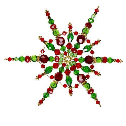 Christmas Beaded Snowflake