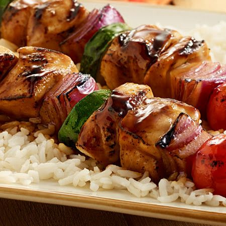 Grilled Chicken Kabobs | Food | Pinterest
