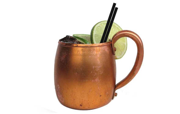 Moscow Mule. Ryan's obsession ever since his last trip to Aspen.
