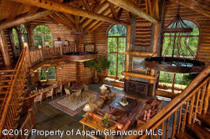 Pinterest for Extravagant log homes
