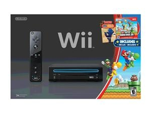 Nintendo Wii System w/ New Super Mario Brothers & Mario Music CD