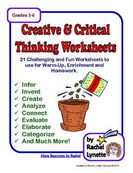 critical thinking printables