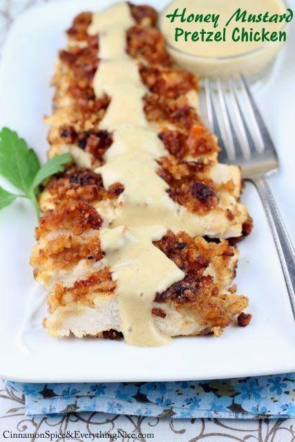 ... to tweak this recipe a little though! Honey Mustard Pretzel Chicken