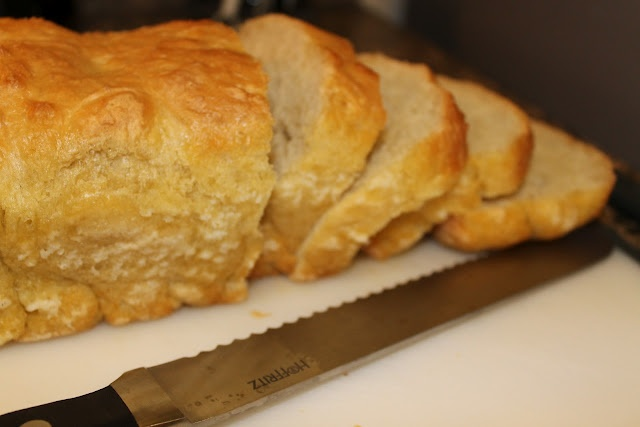 English Muffin bread. Made four loaves with my daughter -- so ...